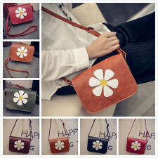Women Girl Leather Flower Handbag Cross Body Shoulder Phone Bag Clutch Hobo Tote