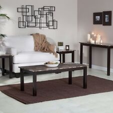 Wood Coffee Table Set 4 PC End Side Console Tables Living Room Furniture Modern