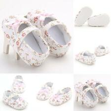 Flower Baby Crib Sandals Toddler Baby Girl Floral Soft Sole Shoes Newborn to 18M