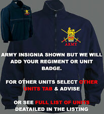 UNIT R-S BLUE MILITARY ARMY RAF ROYAL NAVY MARINES TRAINING JACKET HOODY SHIRT