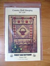 Honey Bee Sewing Pattern # W5 Country Wall Hanging Quilt 22X29 Basket Duck Tulip