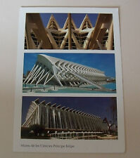 The Príncipe Felipe Science Museum POSTCARD Valencia Spain Building Architecture