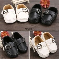 Baby Infant Boy Girl Toddler First Walker Casual Soft  Faux Leather Shoes TXWD