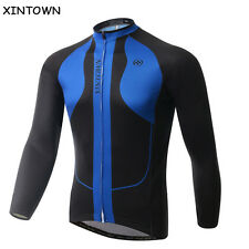 Dark Blue Bike Clothing Pro Cycling Jersey Long Sleeve Team Bicycle Jersey Top