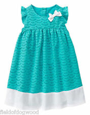 NWT Gymboree TIDE POOL Bow Eyelet Dress Dress 12 18mo 2T 3T 4T 5T Girl