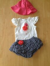 Gymboree Flamingo Bodysuit Ruffle Skirt Hat Set 6 12 18 24mo Flamingo Flair New