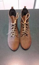 Women's Rubi shoes brown ankle boots wedges size EU 39, AU 8
