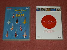 Koi Carp x 2 DVDs Varieties of Koi and All Japan Show DVDs