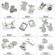 Silver Tone Jewelry Making Charms Rabbit Hare Carrot Head Tag Cassette Recorder