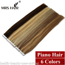 "Handmade Remy Human Hair Extensions Tape In Skin Weft 6A 16""18""20"" 20pcs/set"
