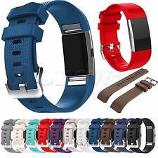 Sports Silicone Bracelet Strap Band For Fitbit Charge 2  Replacement wristband