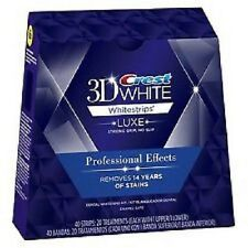 20 pouches 40 strips Crest 3D Luxe Whitestrips Whitening Professional Effect USA