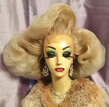 STUNNING HAND STYLED BLONDE MIX LACE FRONT DRAG QUEEN WIG