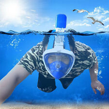 Practical Swimming Full Face Mask Surface Underwater Diving Scuba Tool Lot Light