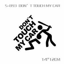 Don't touch my Car Funny Window Sticker PVC Reflective Body Decal