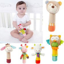 Animal Handbells Musical Developmental Toy Bed Bells Baby Kids Soft Toys Rattle
