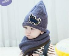 Kids Winter Set Knitted Hat and Scarf  Baby Boys Girls baby children's hat