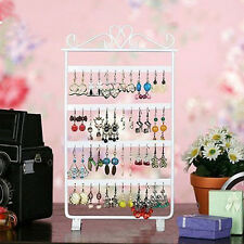 Metal Jewelry Show Display Rack Stand Holder Necklace Ear Stud Earring Organizer