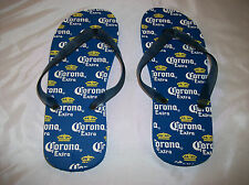 NEW Corona Extra Mens Sandals/Flip Flops blue with Beer logo