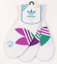Adidas PED Womens Cotton Blend 1 Pack/3 Pair Ped Ankle Socks Size 5-10 White NEW