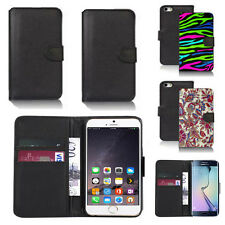black pu leather wallet case cover for many mobiles design ref q530