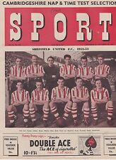 SPORT MAGAZINE ~ 24 OCTOBER  1952 ~ SHEFFIELD UNITED