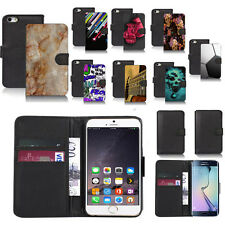 black pu leather wallet case cover for popular mobiles design ref a49