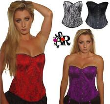 BASQUE/ CORSET STEEL BONED LACE  SIZE 6-18  TUTU GOTHIC FANCY DRESS