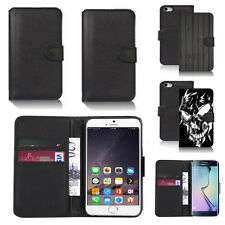 pu leather wallet case cover for many mobiles design ref q98