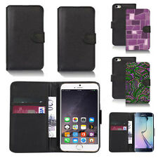 pu leather wallet case cover for apple iphone models design ref q224