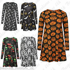 Ladies Women's Fancy DressHalloween Party Spooky Swing Dress, Leggings Plus Size