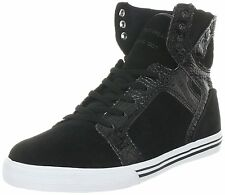 Supra Youth Boys Black Croc White Skytop Chad Muska Skate Shoes