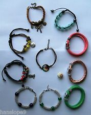 BRACELETS - SNAP BUTTON  - TIBETAN SILVER & JADE - DISCO BALL - FRIENDSHIP