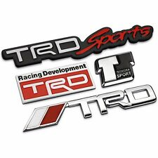 3D Modified badge Sticker Styling TRD Grille Emblem for toyota Racing Car Logo