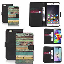 pu leather wallet case for many Mobile phones - grain blocks