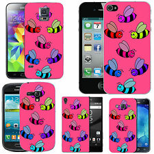 gel case cover for many mobiles -  blush coloured bees silicone