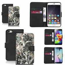 pu leather wallet case for many Mobile phones - marble pattern