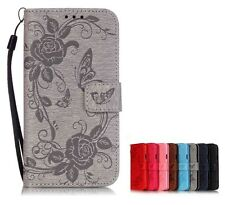 Magnetic Wallet  Embossing PU Leather Card Flip Stand Cover LOT YB-HD Case