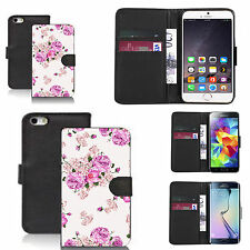 pu leather wallet case for many Mobile phones - purple carnation