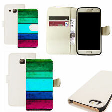 pu leather wallet case for majority Mobile phones - punctual white