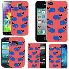 gel case cover for many mobiles - blush funky wales silicone
