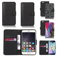 black pu leather wallet case cover for apple iphone models design ref q549