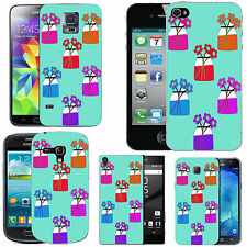 motif case cover for many Mobile phones - azure pastel vases