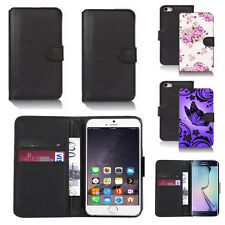 black pu leather wallet case cover for apple iphone models design ref q426