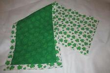 Handmade Quilted Table runner Irish St Patrick's Day Shamrocks Green