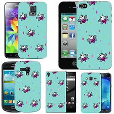gel case cover for many mobiles - azure pink bee droplet silicone