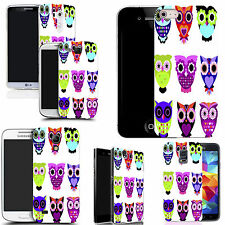 gel case cover for many mobiles  - owl family silicone