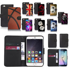 black pu leather wallet case cover for popular mobiles design ref a58