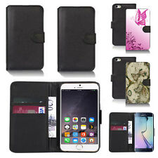 pu leather wallet case cover for apple iphone models design ref q206