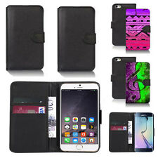 pu leather wallet case cover for apple iphone models design ref q102